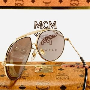 MCM Accessories - MCM Aviator Sunglasses Style 114 in Gold